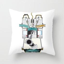 Compression Stroke Throw Pillow