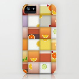 cocktail squares iPhone Case