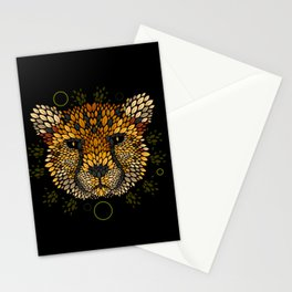 Cheetah Face Stationery Cards