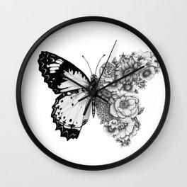 Butterfly in Bloom Wall Clock