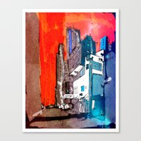 hong kong Canvas Prints featuring Hong Kong by Jonas Ericson