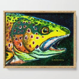 Trout Head Serving Tray