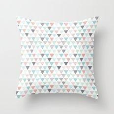 Geometric pastel triangle scandinavian style aztec print Throw Pillow