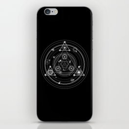 Dark and mysterious wicca style sacred geometry iPhone Skin