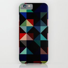 Ovinnik - Abstract Coloful Dark Diamond Shape Art iPhone Case