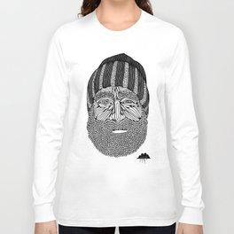 Bombastic Bearded Beanie Man Long Sleeve T-shirt