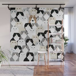 Cats and Dog Wall Mural