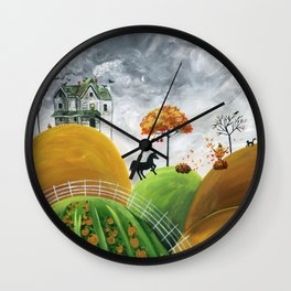 Hilly Halloween Wall Clock