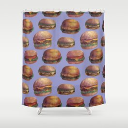 purple burger Shower Curtain
