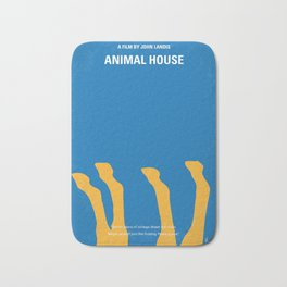 No230 My Animal House minimal movie poster Bath Mat