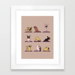 French Bulldog Yoga Framed Art Print