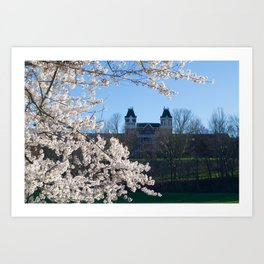 The Kennedy Art Museum in Spring Art Print