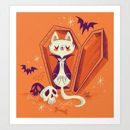Vampire Kitty Art Print