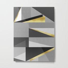 Gold and gray II Metal Print
