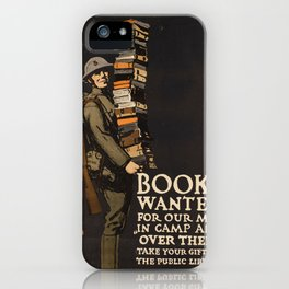Vintage poster - Books Wanted iPhone Case