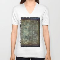android V-neck T-shirts featuring ANDROID by lucborell