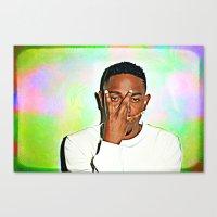 kendrick lamar Canvas Prints featuring Kendrick Lamar by Enna