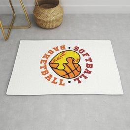 Softball Basketball Rug