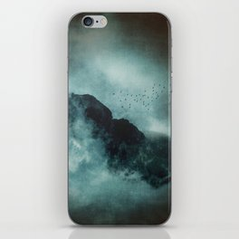 On the top of the world - Mountains Dust iPhone Skin