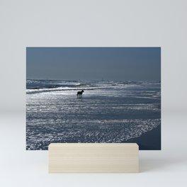 Dog on the Beach Mini Art Print