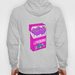 Loveboro cigarette packs pattern / girly stickers / pink grid Hoody