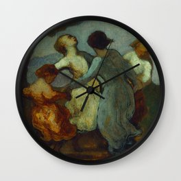 """Honoré Daumier """"Une Ronde D'enfants (Enfants Dansant En Rond - Ronde De Jeunes Filles)"""" Wall Clock"""