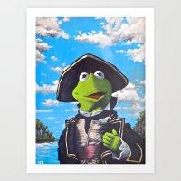 Kermit Captain Smollett Art Print