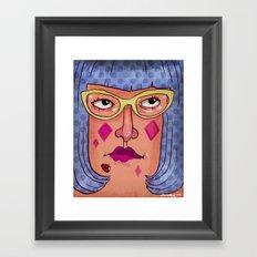 Glasses - Cat Eye Framed Art Print