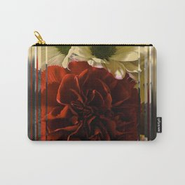 Carnation And Daisies In Glass Display Carry-All Pouch