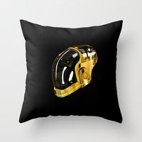 daft punk Throw Pillows featuring Daft Punk by Naje Anthony Hart