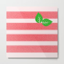 Strawberry Ice Metal Print