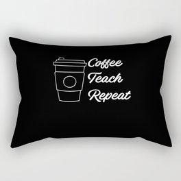 Coffee Teach Repeat Rectangular Pillow