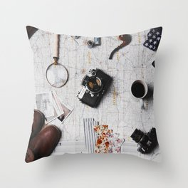 My Travels (Color) Throw Pillow