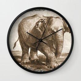 Elephant Sketch (Monochrome) Wall Clock