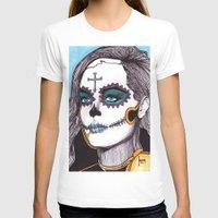 dia de los muertos T-shirts featuring Dia de los Muertos by Joseph Walrave