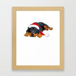 Rottweiler Christmas Shirt Framed Art Print