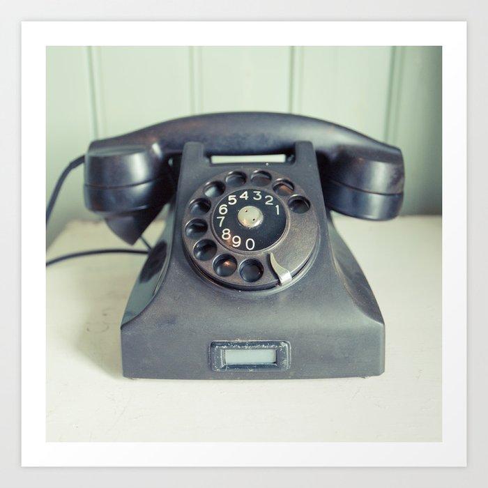 Old Rotary Telephone Art Print