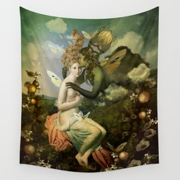 """""""The body, the soul and the garden of love"""" Wall Tapestry"""