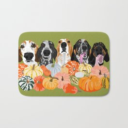 Coonhounds and Gourd Bath Mat