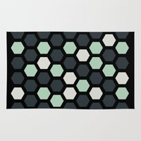 honeycomb Area & Throw Rugs featuring Honeycomb by LONEWLF