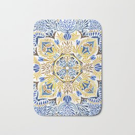 Wheat field with cornflower - mandala pattern Bath Mat