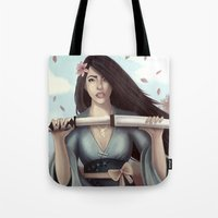 sword Tote Bags featuring White Sword by Eva Worl Art