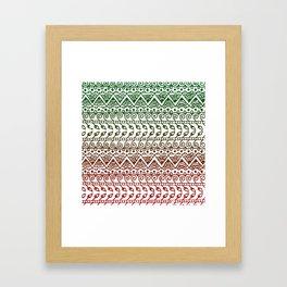 Holiday Henna Pattern Framed Art Print