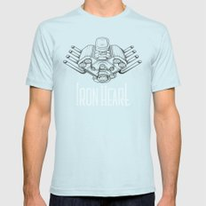 Iron Heart Mens Fitted Tee Light Blue SMALL