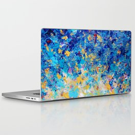 HYPNOTIC BLUE SUNSET - Simply Beautiful Royal Blue Navy Turquoise Aqua Sunrise Abstract Nature Decor Laptop & iPad Skin