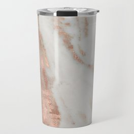 Marble Rose Gold Shimmery Marble Travel Mug