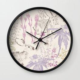 Wildflowers of the Tallgrass Prairie Wall Clock