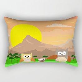 Owl family Rectangular Pillow