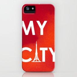 MyCity-Tokyo-RedOrangeA iPhone Case