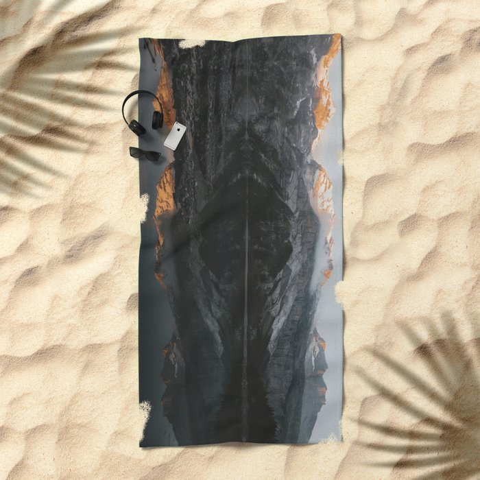 Mirror Mountains - Landscape Photography Beach Towel